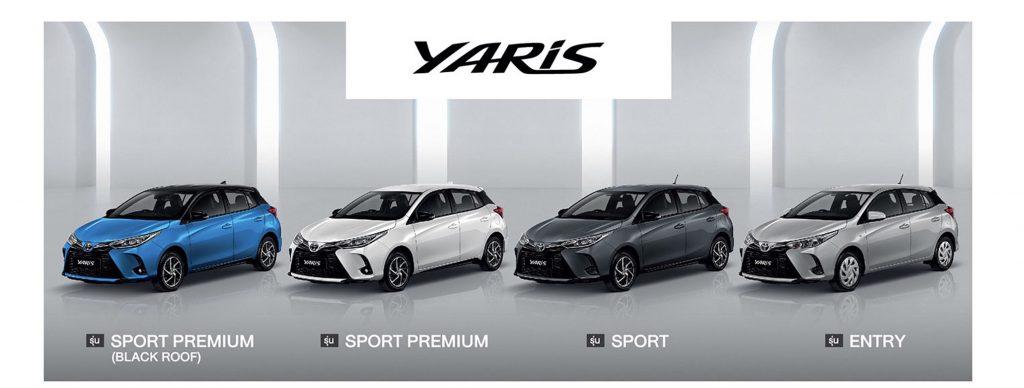 สเปค Yaris Hatchback-spec Yaris Hatchback-option Yaris Hatchback-color