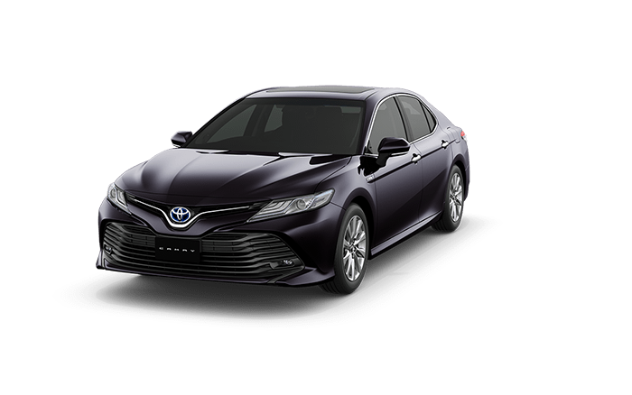toyota camry burning black crystal color