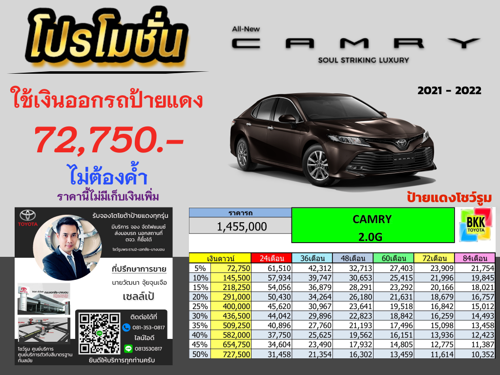 price-installment-down payment-campaign-discount-promotion-toyota corolla altis-ตารางผ่อน-ดาวน์ต่ำ-ดาวน์น้อย-ดอกเบี้ยถูกพิเศษ-โปรโมชั่น-ไม่ค้ำ-ผ่อนนาน-ราคา-ส่วนลด-แคมเปญ-ของแถม-รถยนต์โตโยต้า คัมรี่-ส่วนบุคคลขนาดกลาง-5ที่นั่ง-ดีเซกเมนท์-ป้ายแดง-นั่งครอบครัว-คอมแพค-ซีดาน-ไฮบริด-Hybrid-แต่งคัมรี่-แต่งcamry