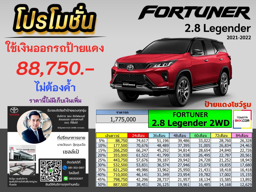 โปรโมชั่น fortuner 2021 ดาวน์ต่ำ ไม่ค้ำ-ส่วนลดเยอะ-ของแถม-ส่วนลด100000-ตารางราคา ผ่อน ดาวน์ fortuner